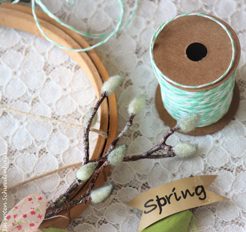 DIY Anleitung für einen Stickrahmen mit Frühlingsdekor